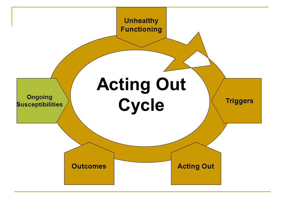 Cycle Unhealthy Functioning Triggers Ongoing Susceptibilities Outcomes Acting Out