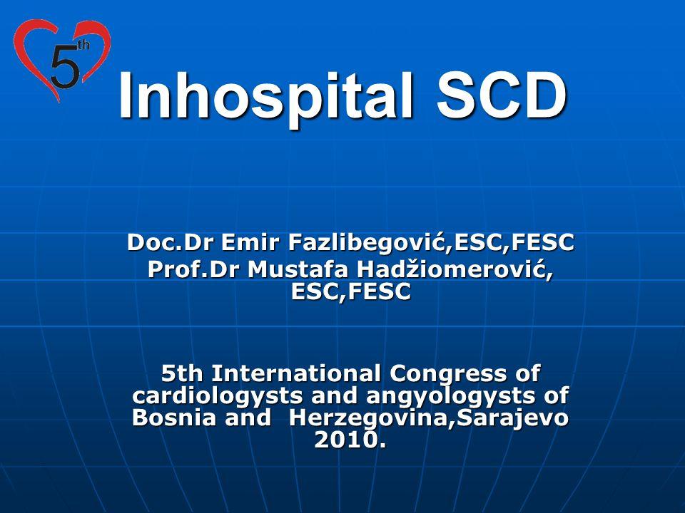 Inhospital SCD Doc.Dr Emir Fazlibegović,ESC,FESC Prof.Dr Mustafa Hadžiomerović, ESC,FESC 5th International Congress of cardiologysts and angyologysts