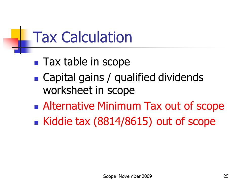 Scope November AARPTCE Program and Scope What is the mission of – Qualified Dividends Worksheet