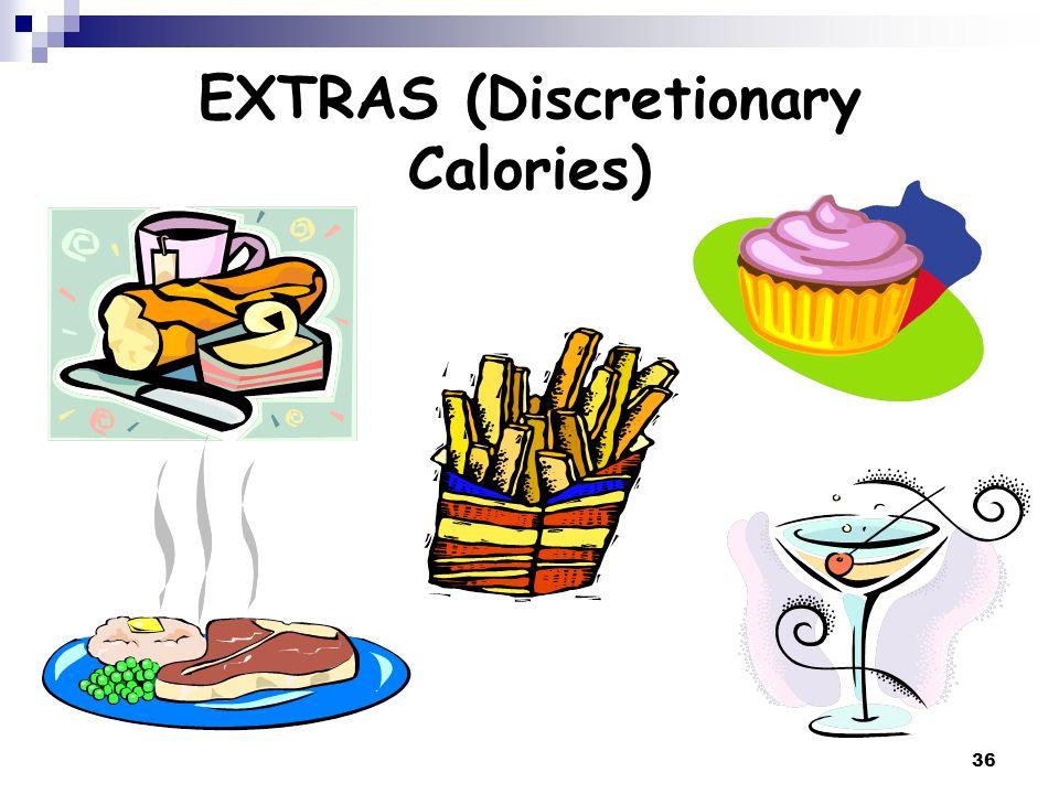 36 EXTRAS (Discretionary Calories)