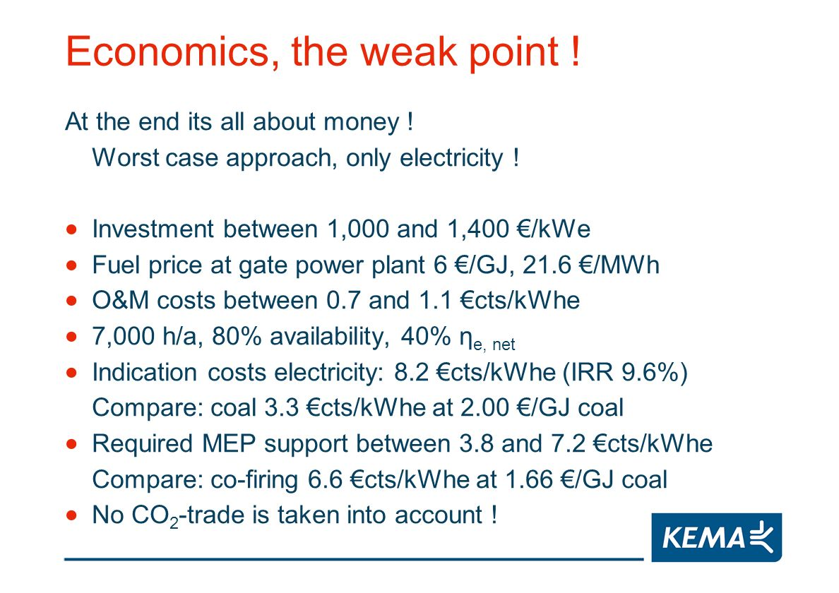 Economics, the weak point . At the end its all about money .
