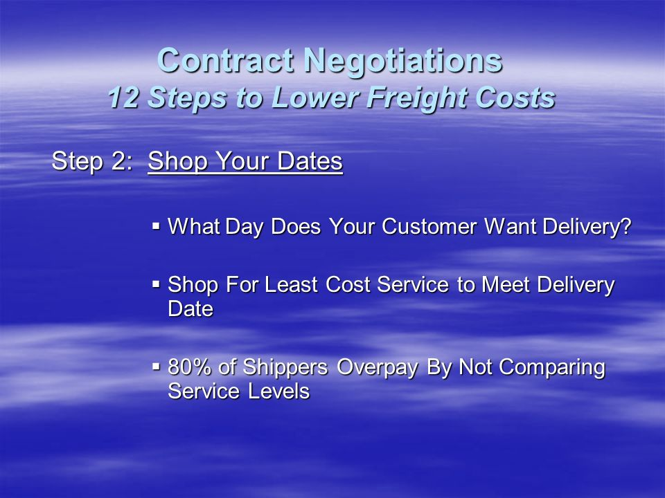 Step 2: Shop Your Dates What Day Does Your Customer Want Delivery.
