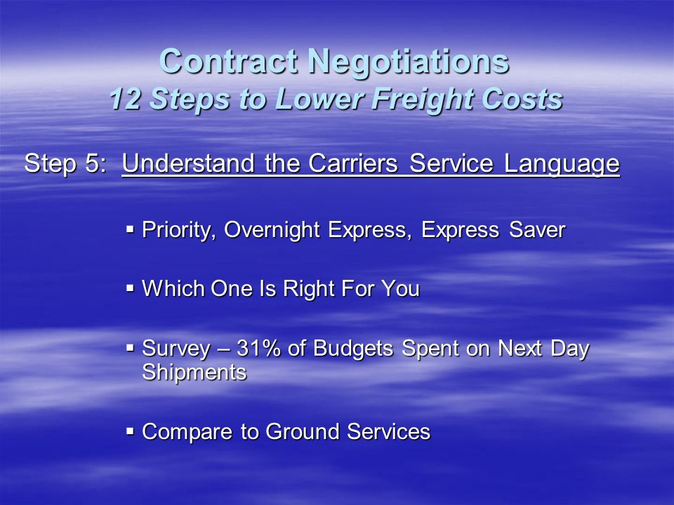 Step 5: Understand the Carriers Service Language Priority, Overnight Express, Express Saver Priority, Overnight Express, Express Saver Which One Is Ri