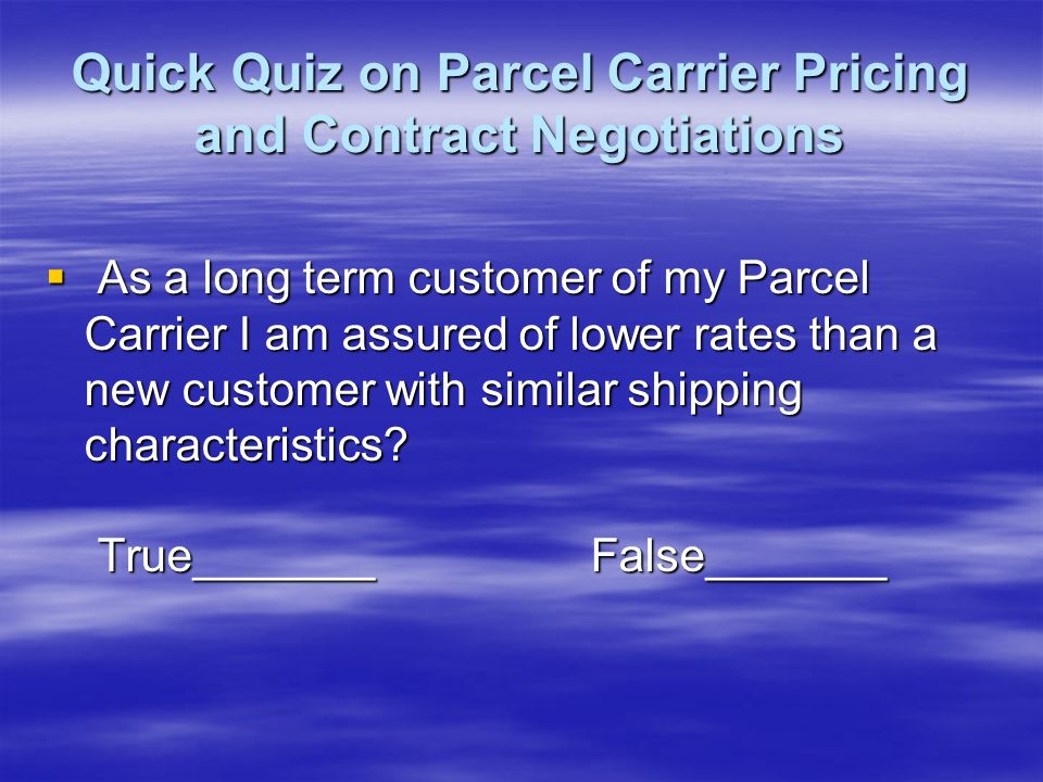 Step 4: Negotiate For Better Rates You Get What You Negotiate You Get What You Negotiate Always Consider the Competition Always Consider the Competition Hire a Parcel Consultant to Lead the Way Hire a Parcel Consultant to Lead the Way Contract Negotiations 12 Steps to Lower Freight Costs