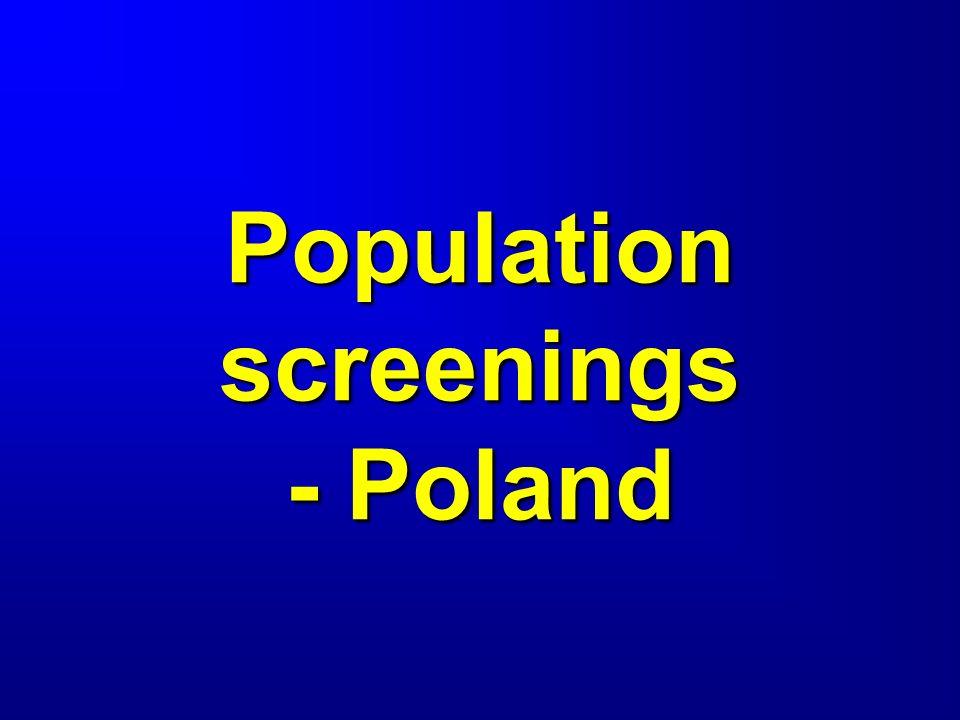 Population screenings - Poland