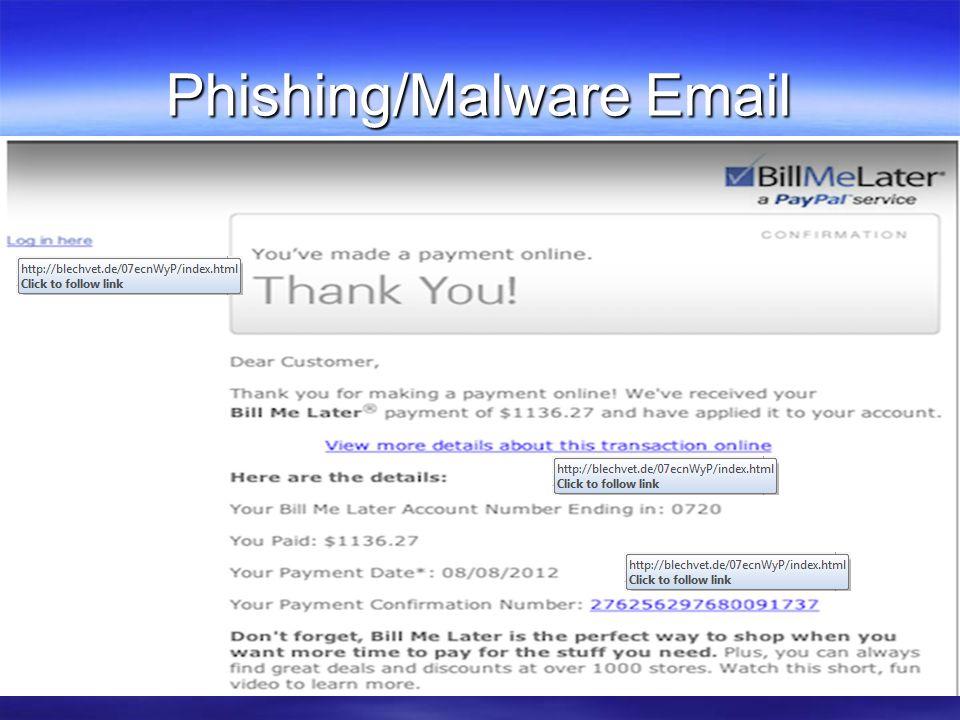 Phishing/Malware Email
