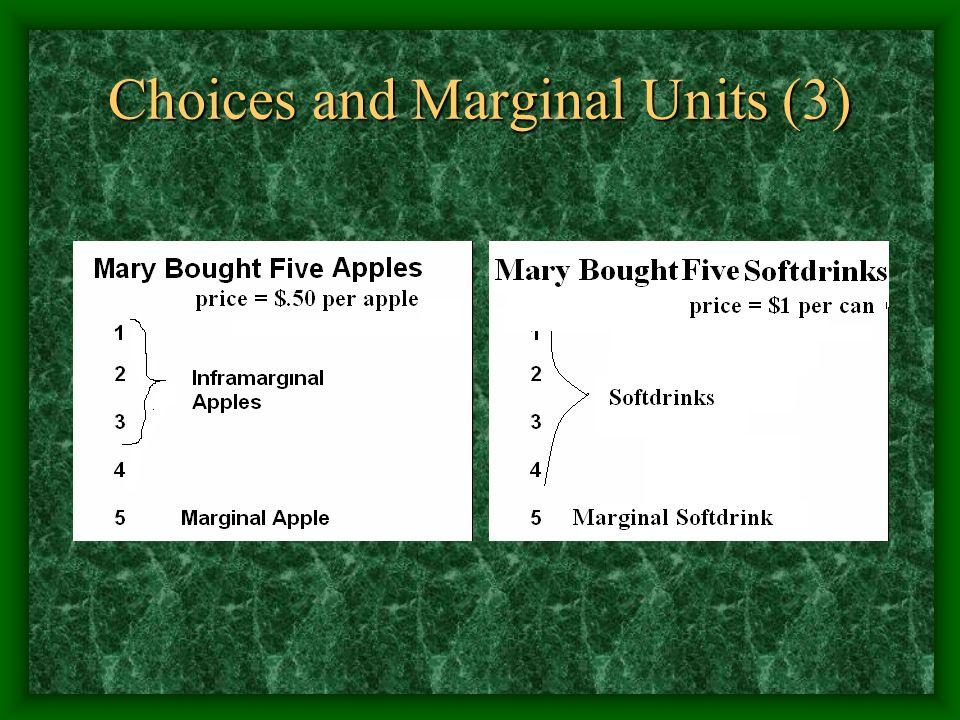 Choices and Marginal Units (3)