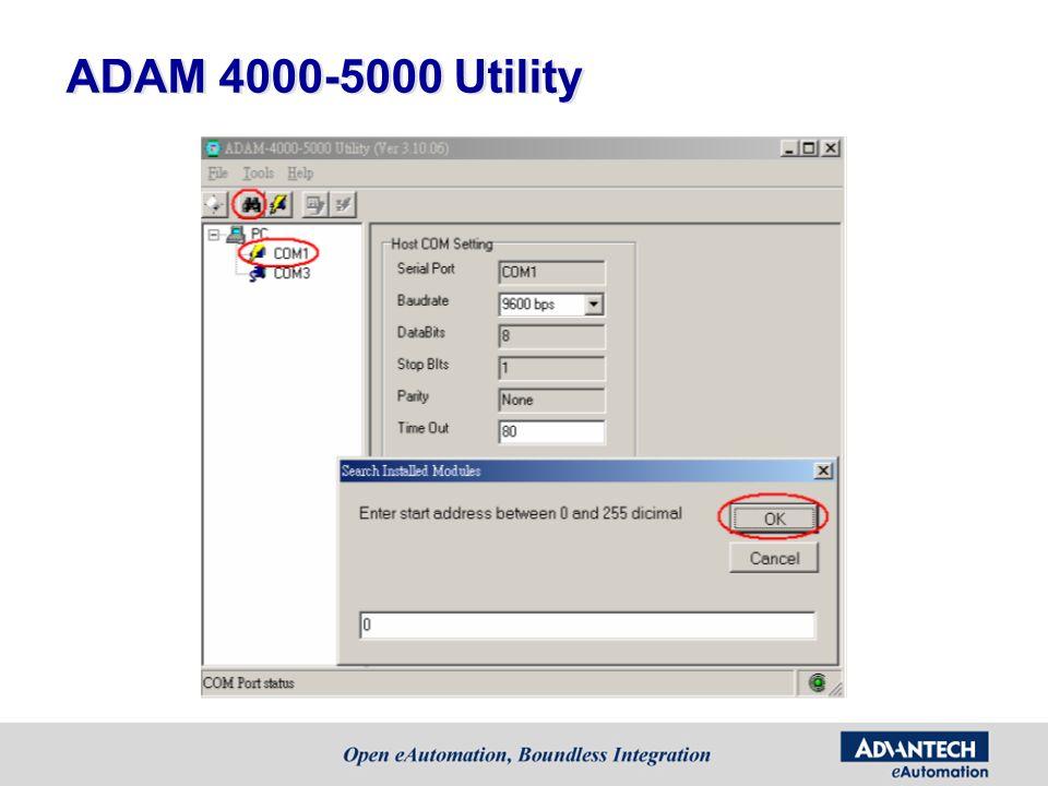 ADAM 4000-5000 Utility