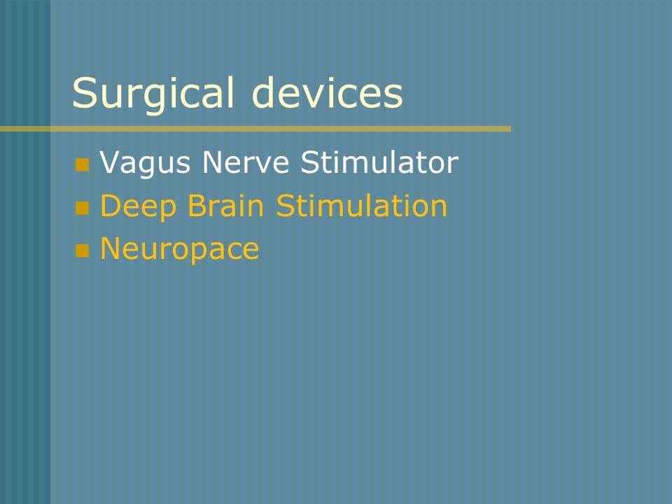 Surgical devices Vagus Nerve Stimulator Deep Brain Stimulation Neuropace