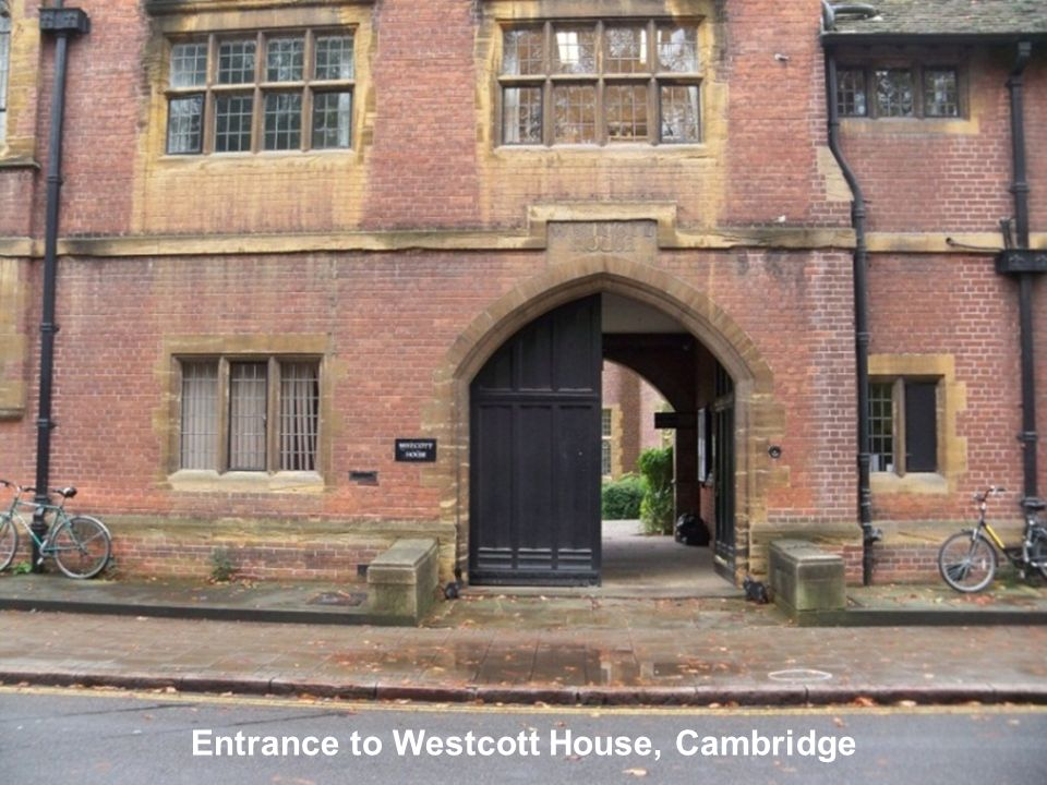 Entrance to Westcott House, Cambridge