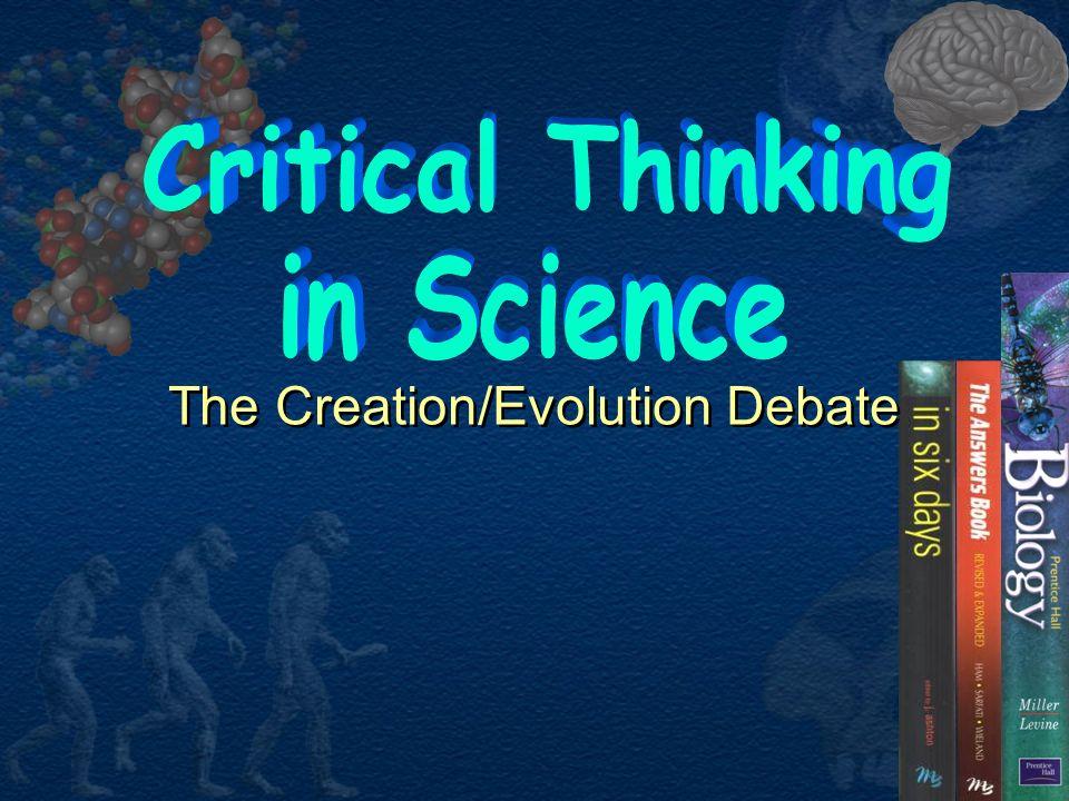 The Creation/Evolution Debate
