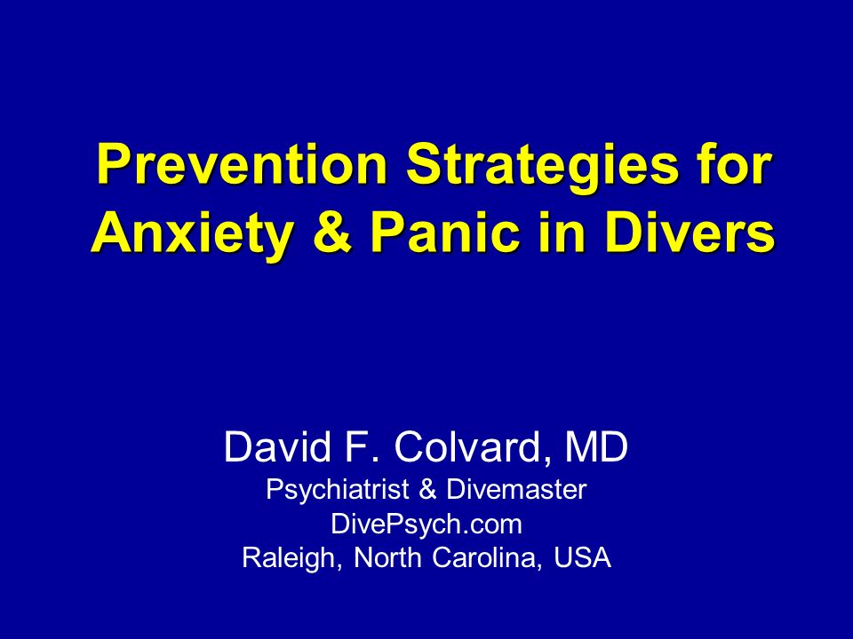 Panic in the diving environment © 2011 David Colvard. All rights reserved.