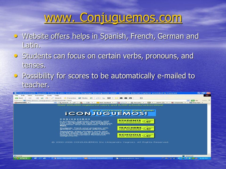 www. Conjuguemos.com www.