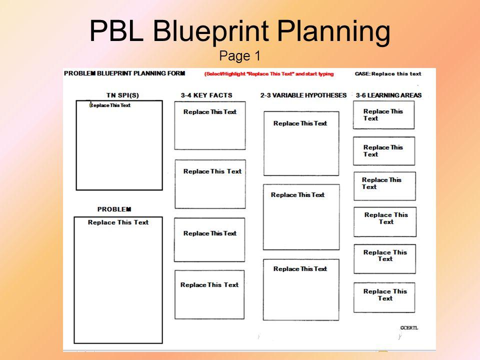 PBL Blueprint Planning Page 2