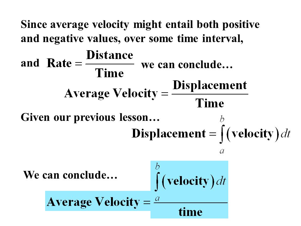 Definition: Average Velocity