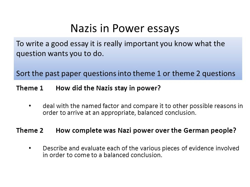 Themes For An Essay