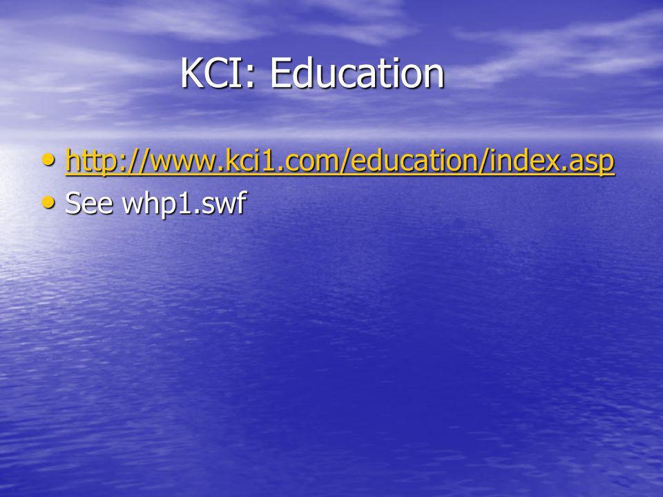 KCI: Education KCI: Education http://www.kci1.com/education/index.asp http://www.kci1.com/education/index.asp http://www.kci1.com/education/index.asp