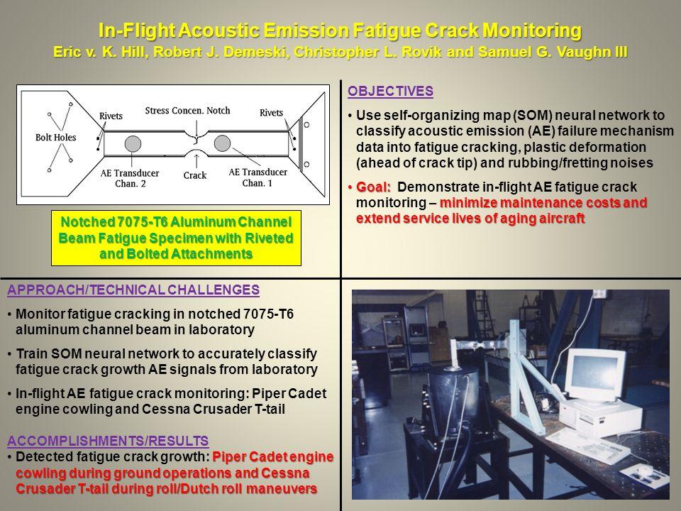 In-Flight Acoustic Emission Fatigue Crack Monitoring Eric v.