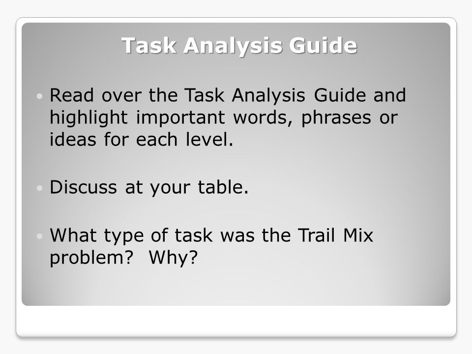Adapt-a-Task Activity Choose a standard from the 4 th Grade or from the 8 th Grade CCSS in Mathematics.