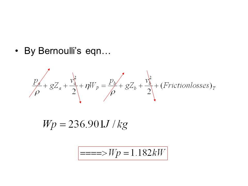 By Bernoullis eqn…