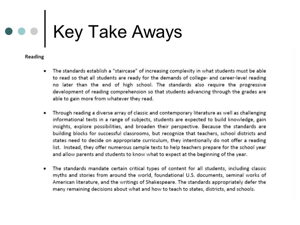 Key Take Aways