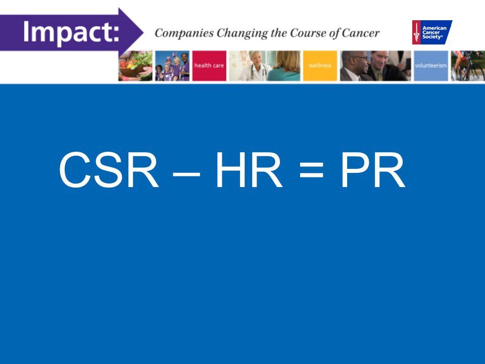 CSR – HR = PR