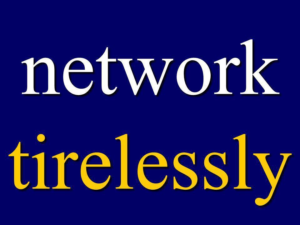 network tirelessly