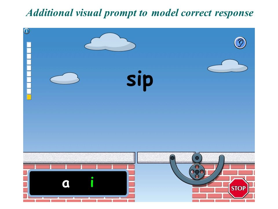Additional visual prompt to model correct response