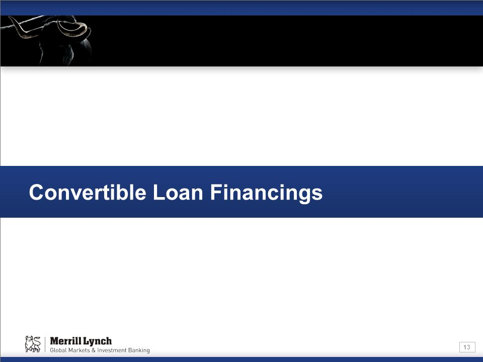 13 Convertible Loan Financings