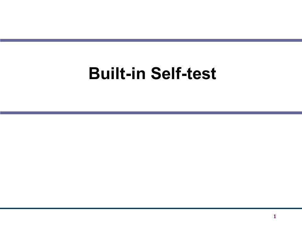 1 Built-in Self-test