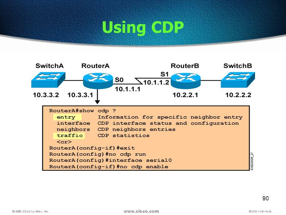 90 Using CDP