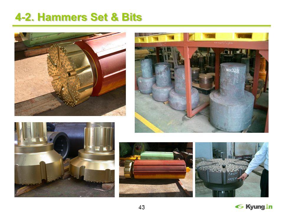 43 4-2. Hammers Set & Bits