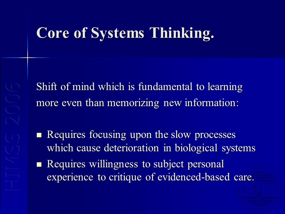 Core of Systems Thinking.