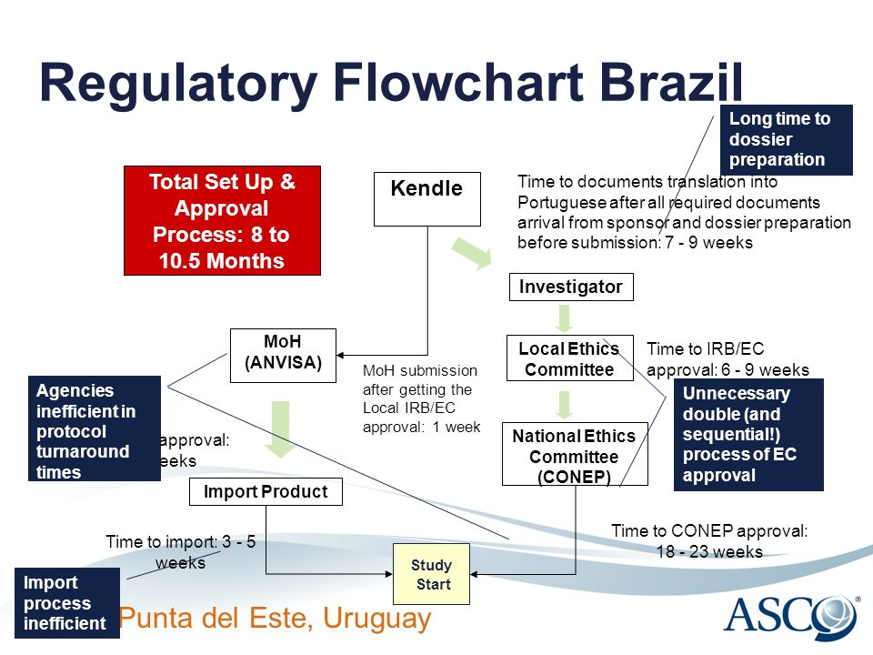 ICTW Punta del Este, Uruguay Regulatory Flowchart Brazil Investigator MoH (ANVISA) Local Ethics Committee National Ethics Committee (CONEP) Study Star