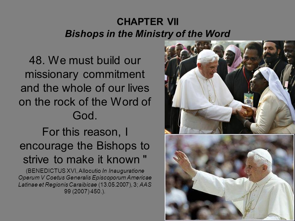 CHAPTER VII Bishops in the Ministry of the Word 48.