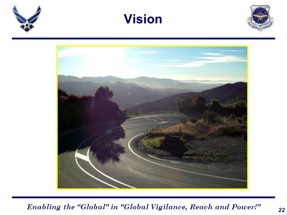 22 Enabling the Global in Global Vigilance, Reach and Power! Vision
