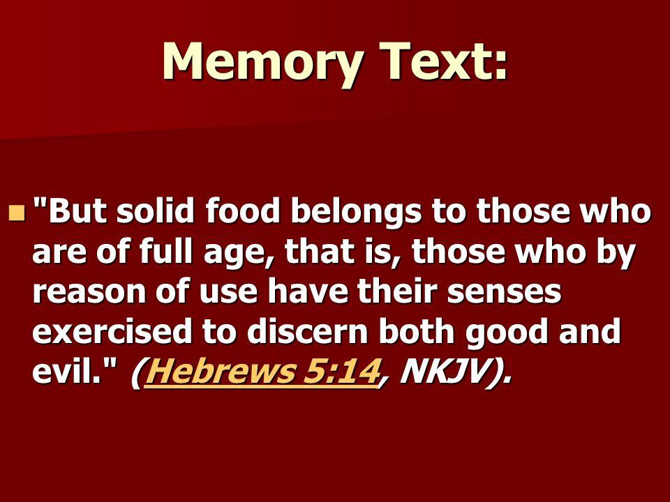 Memory Text:
