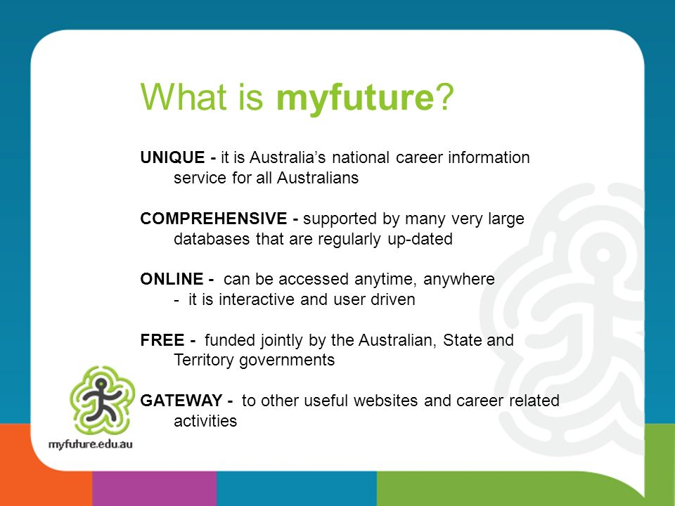 What is myfuture.