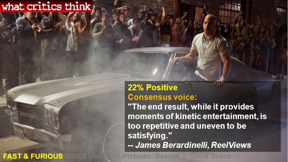 22% Positive Consensus voice: