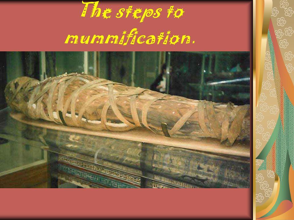 The steps to mummification.