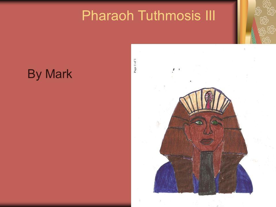 Pharaoh Tuthmosis III By Mark