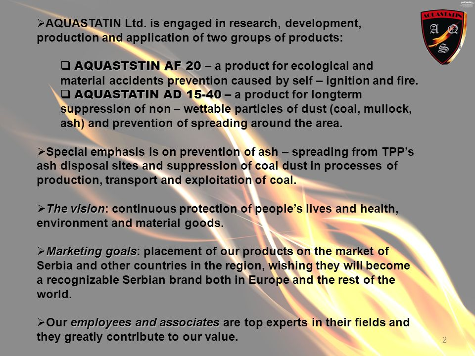 2 AQUASTATIN Ltd.