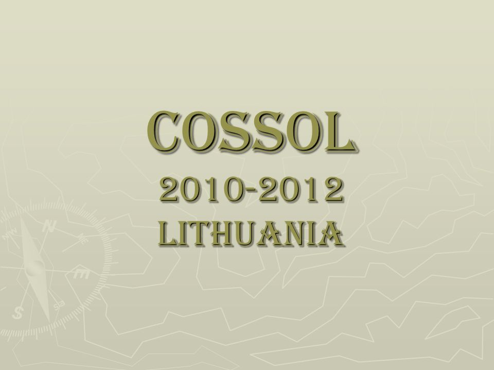 COSSOL 2010-2012 LITHUANIA