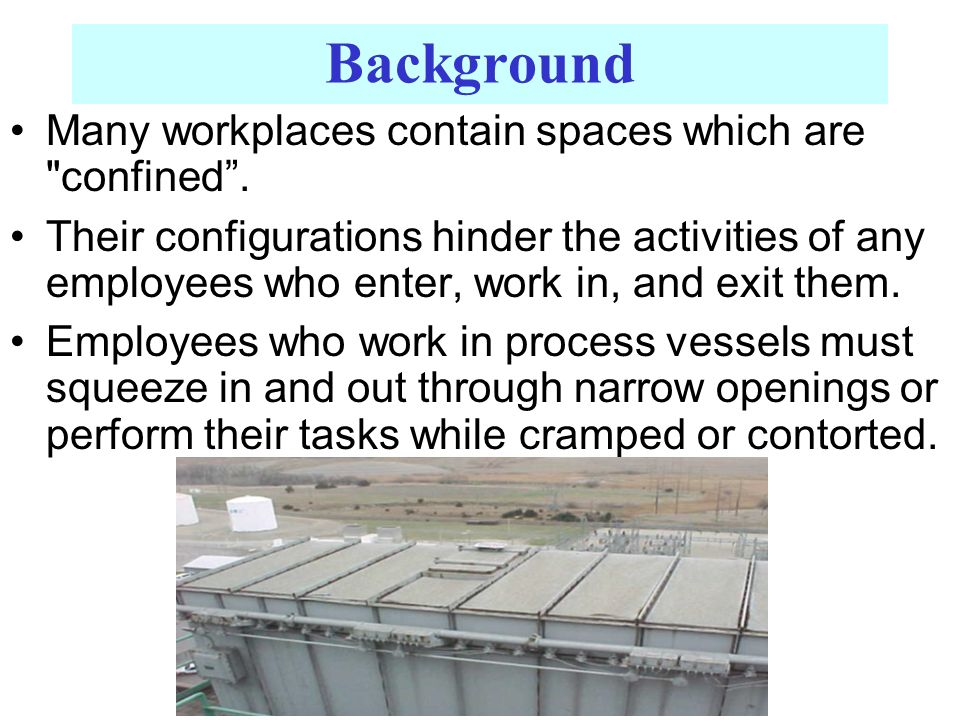 Background Many workplaces contain spaces which are