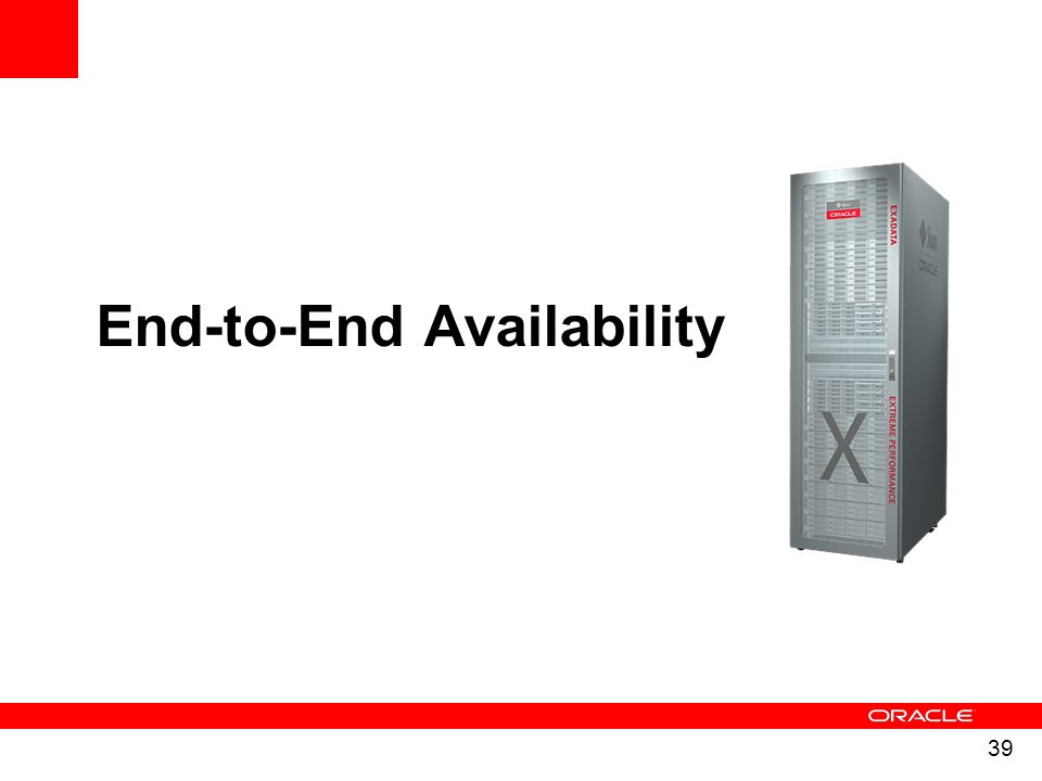39 End-to-End Availability