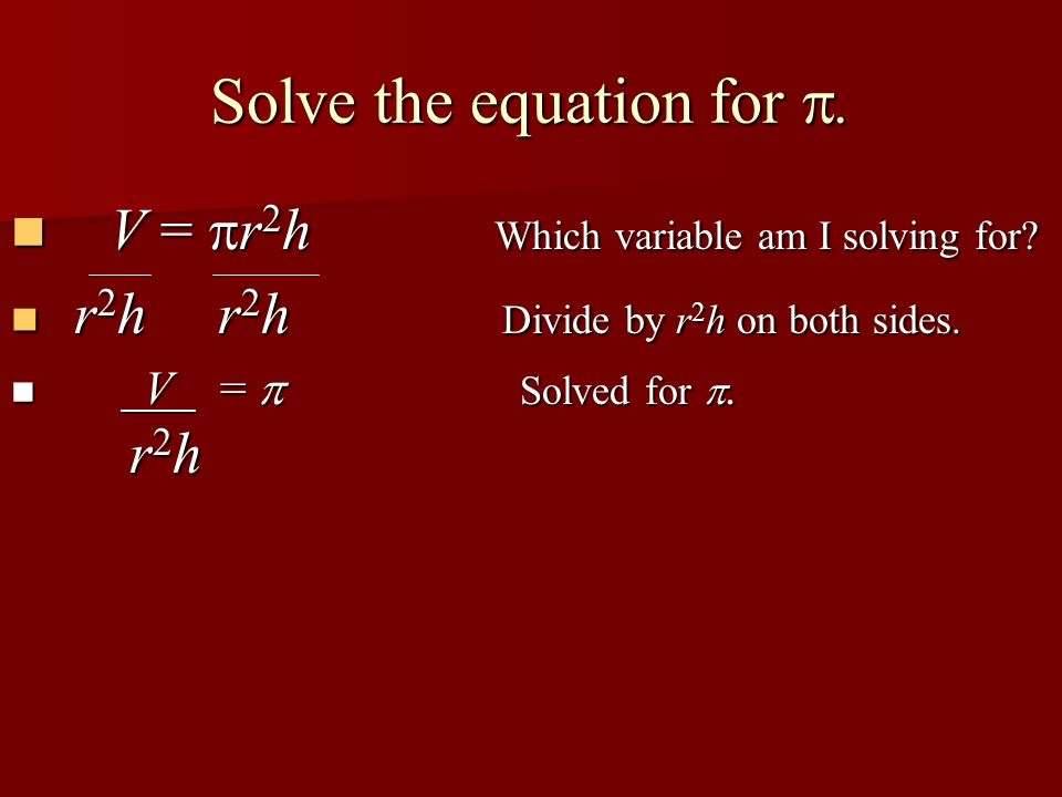 Solve the equation for z.x + y + z = P Which variable am I solving for.