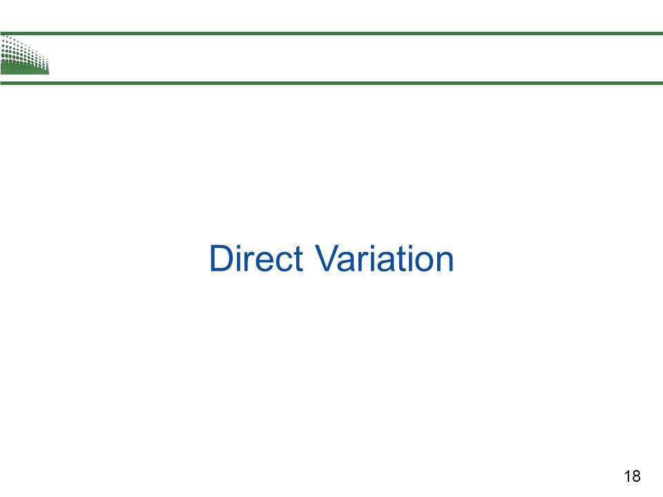 18 Direct Variation