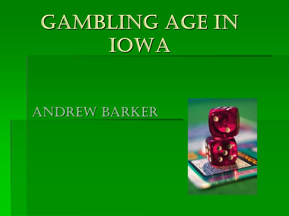 Gambling age laws legalized gambling research paper