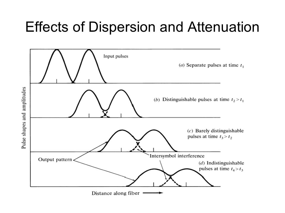 Effects of Dispersion and Attenuation