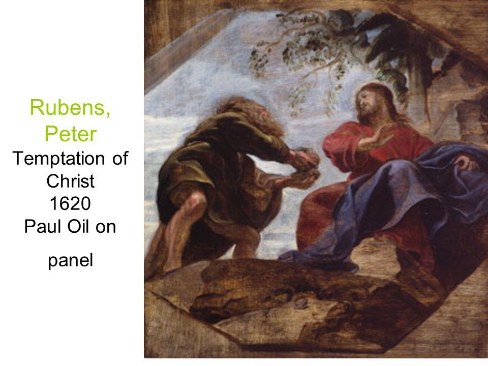 Rubens, Peter Temptation of Christ 1620 Paul Oil on panel